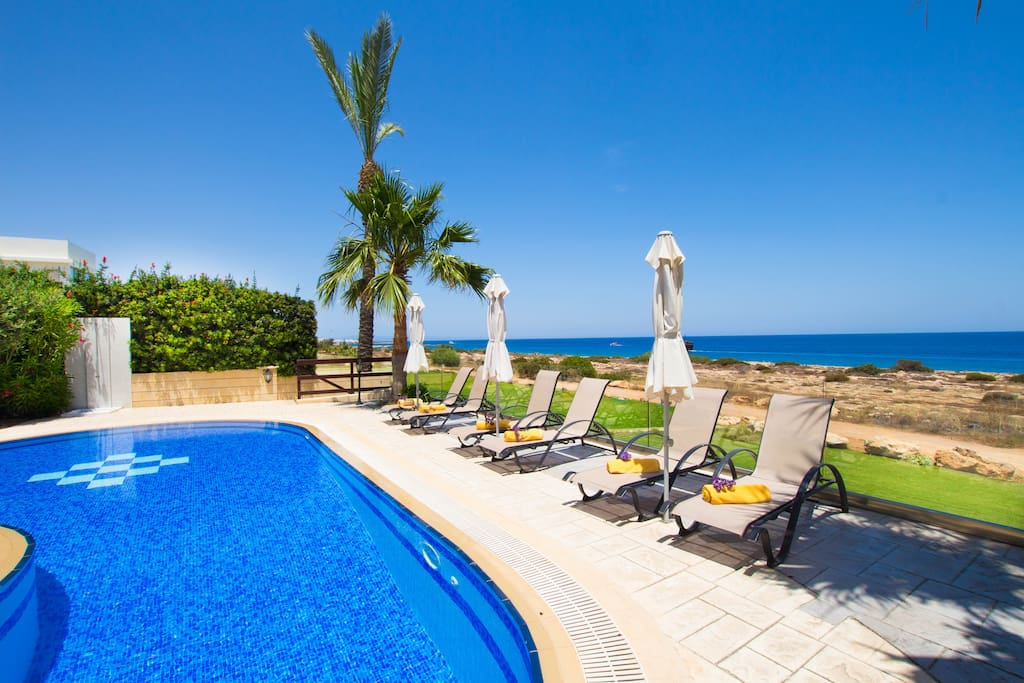 Pool Area and front sea views