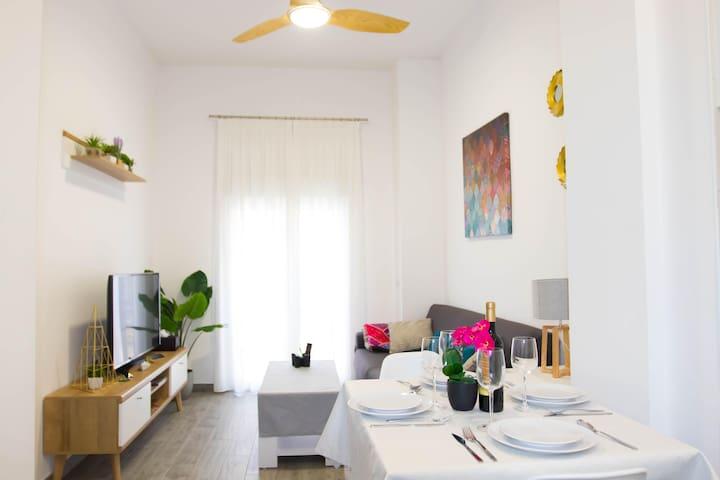 Apartamento con terraza privada en centro ciudad