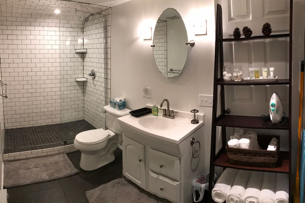 Brand new, completely renovated bathroom.