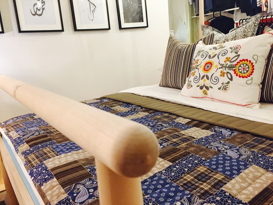 Bed with poles deco; for your creative fantasy