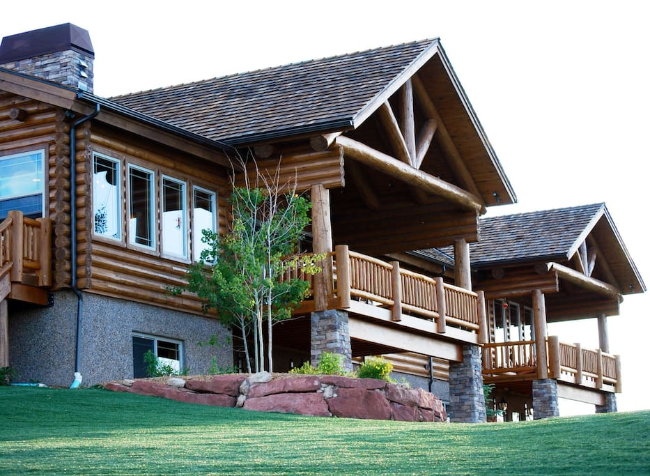 Incredible log cabin estate
