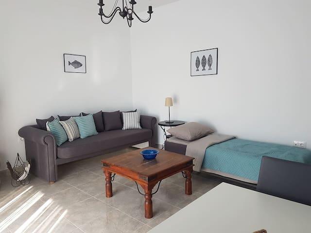 Καναπές σαλονιού  που μετατρέπεται σε δύο μονά κρεβάτια