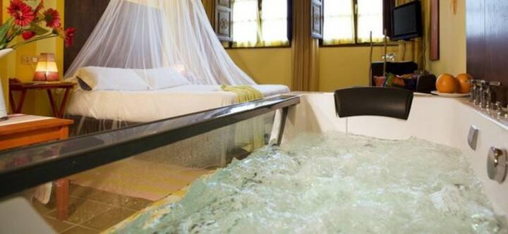 Hotel Rural *** Encanto, Jacuzzi privado.Luanco