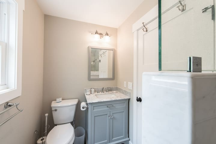 Each bathroom is stocked with a complimentary supply of toiletries and bath amenities.