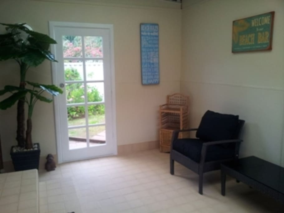 Sun Room, great for sitting to relax, unwind and enjoy the peace  & quiet