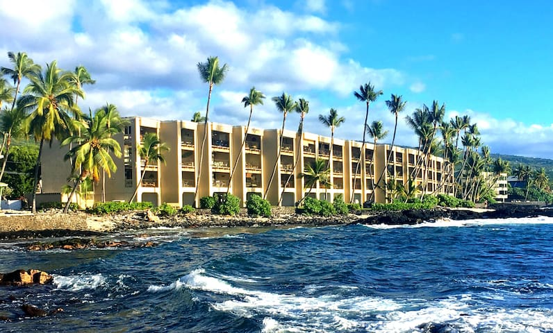 1 BR Condo Steps From Kona's Premier Surf Break