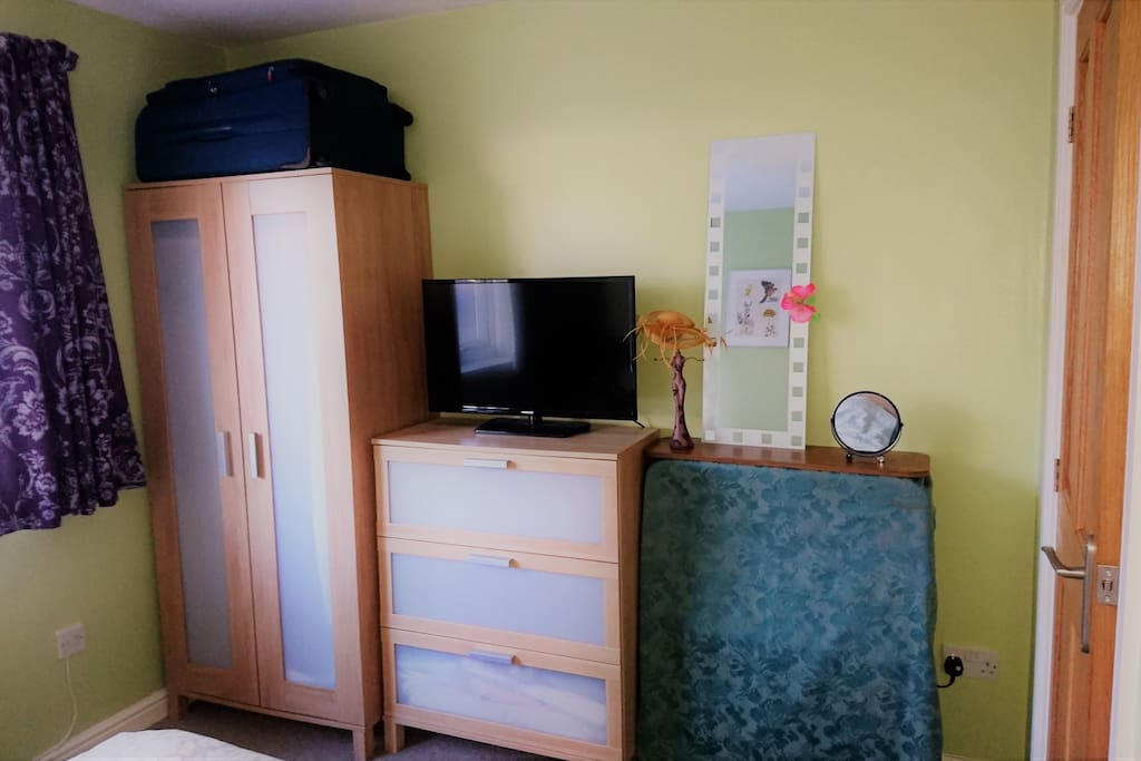 Storage available in guest bedroom and TV with Chromecast (note no conventional channels available)