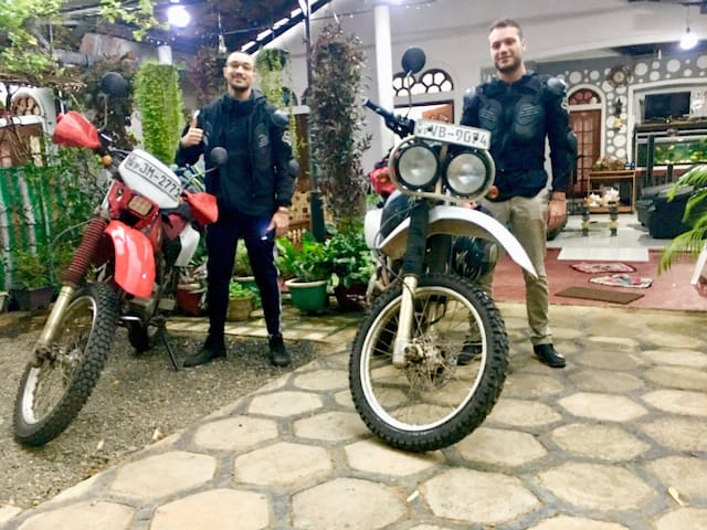 2 guests with motorcycle