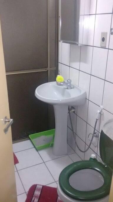 banheiro com boxe