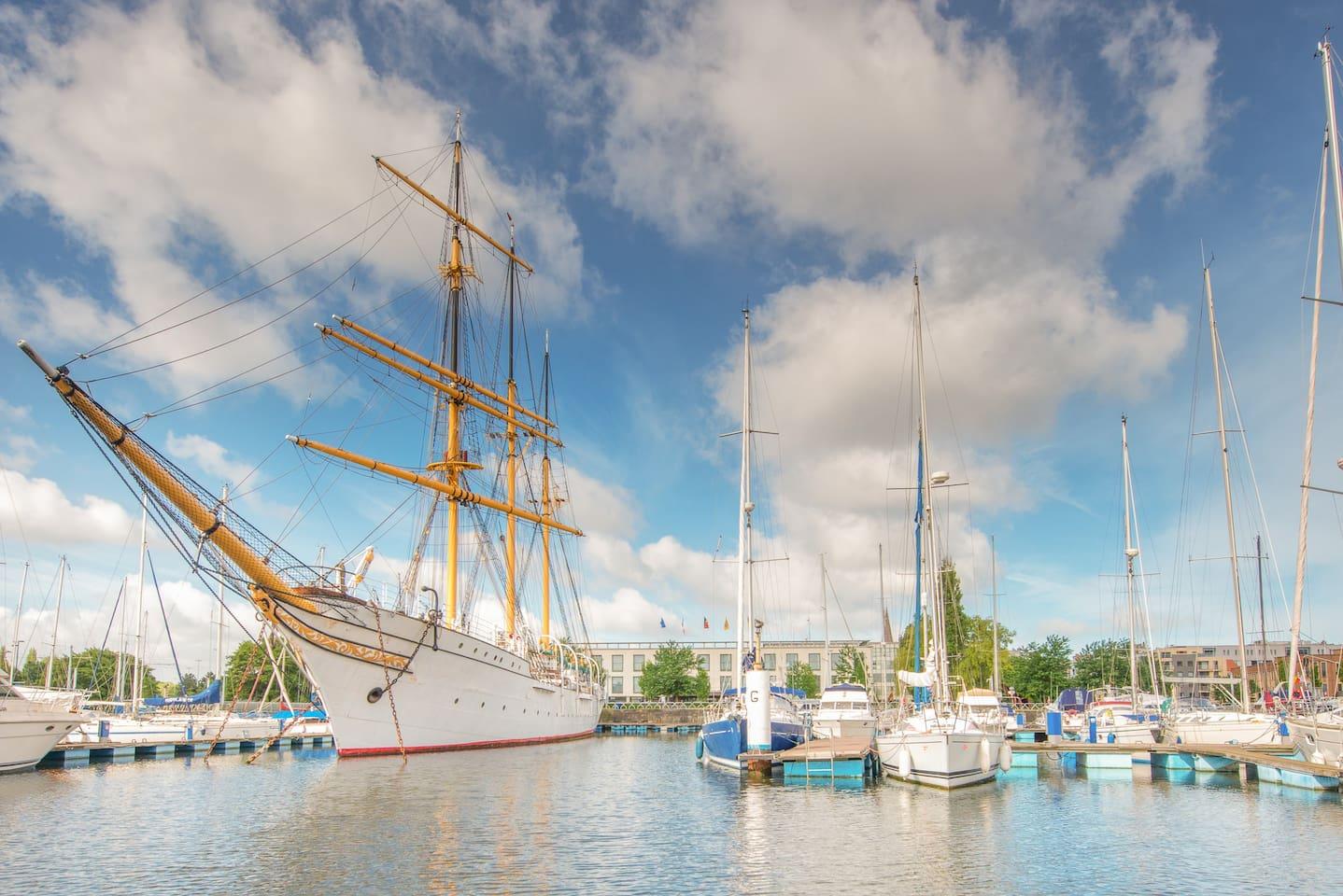 Vlakbij jachthaven Oostende