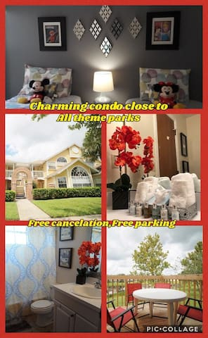 Charming modern 2/2 condo close to all Theme parks