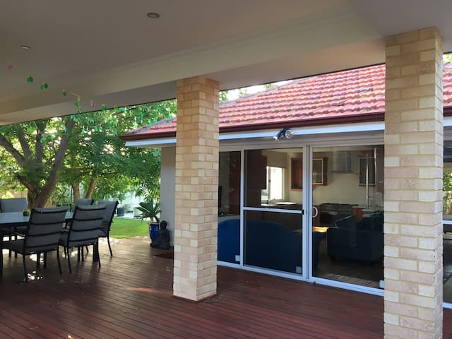 Private, standalone villa, fitted with 2 split system air conditioners/heaters.