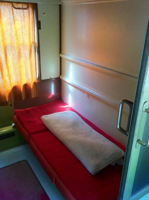 Abteil mit Einzelbett