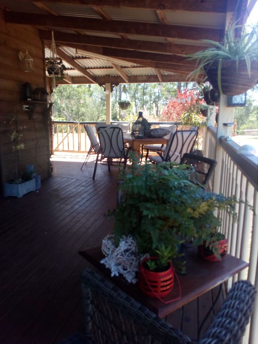 Relax on the wrap around verandah