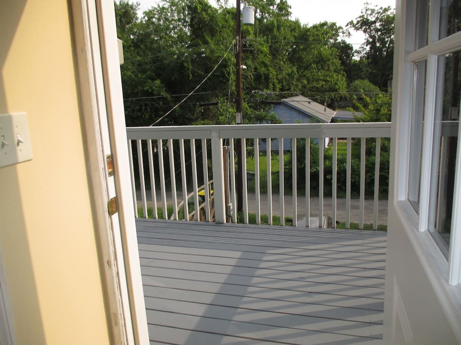 Your own deck for fresh air!