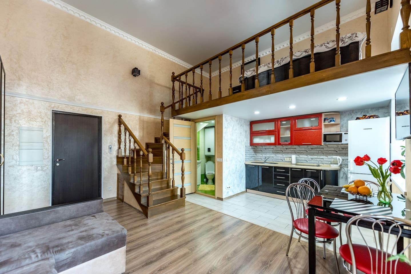 Studio apartment in the heart of Odessa