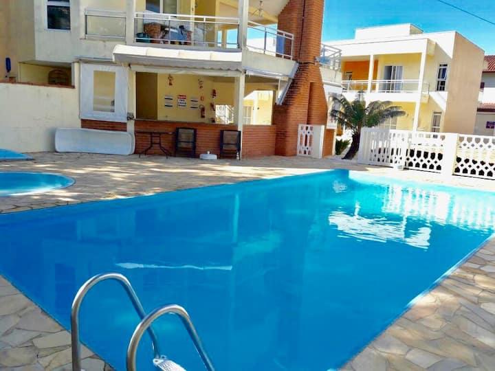Apartamento 12 Condomínio c/ piscina-Caraguatatuba