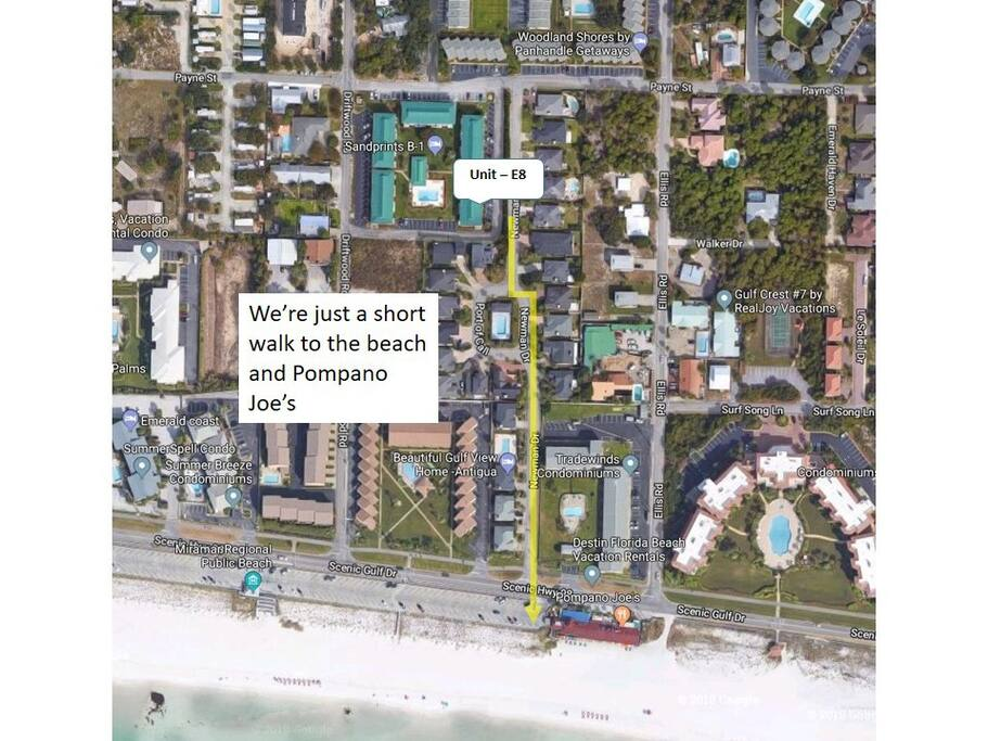 Beautiful beach just a short 300' away!  Great public access, family friendly beach!