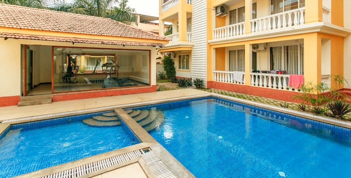 Luxurious apartment in the heart of north Goa!!