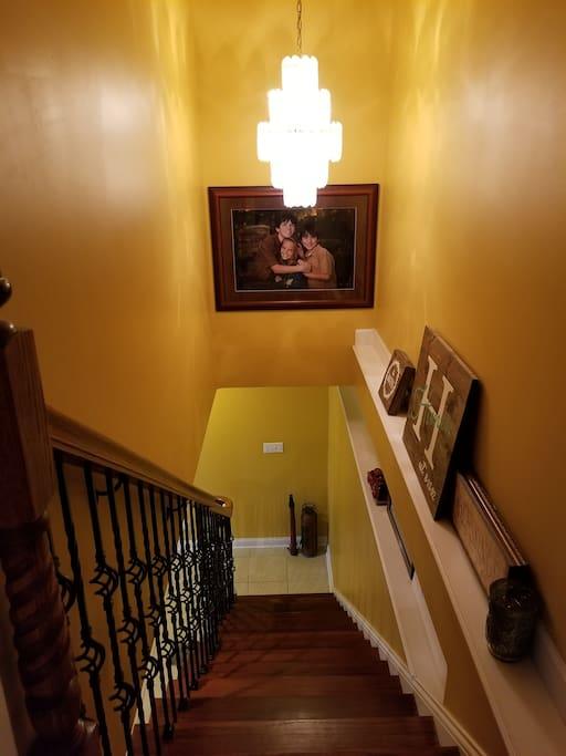 Steps to walkout basement