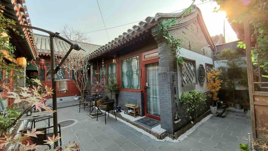 Hutong胡同|四合院 前门大栅栏 老北京百年历史 隔音好独栋舒适大床房--【人杰地灵】
