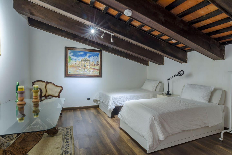 Loft 102 twin beds configuration
