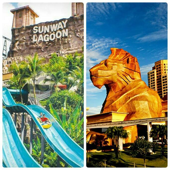 5 min Canopy walk to Sunway Pyramid & Sunway Theme Park