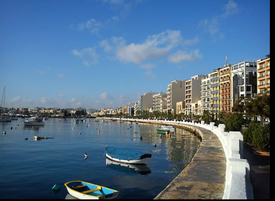 Location Photo.  Apartment is 50 metres off the Strand Sliema.