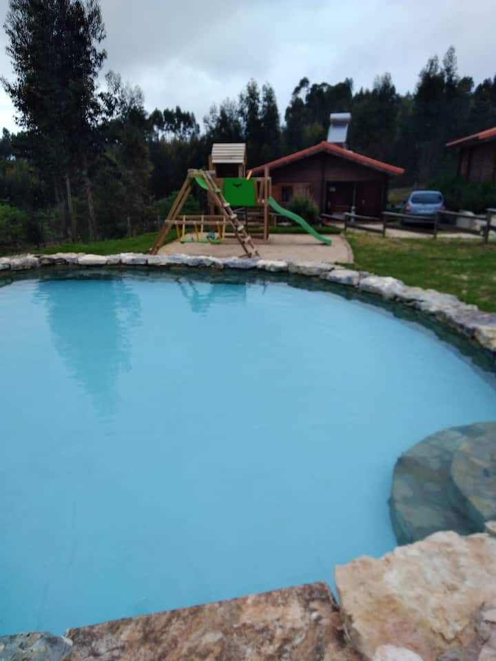 Studio in Figueiró dos Vinhos, with wonderful mountain view, shared pool, enclosed garden