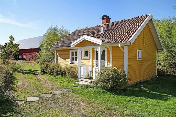 Mysig stuga utanför Eksjö med närhet till naturen
