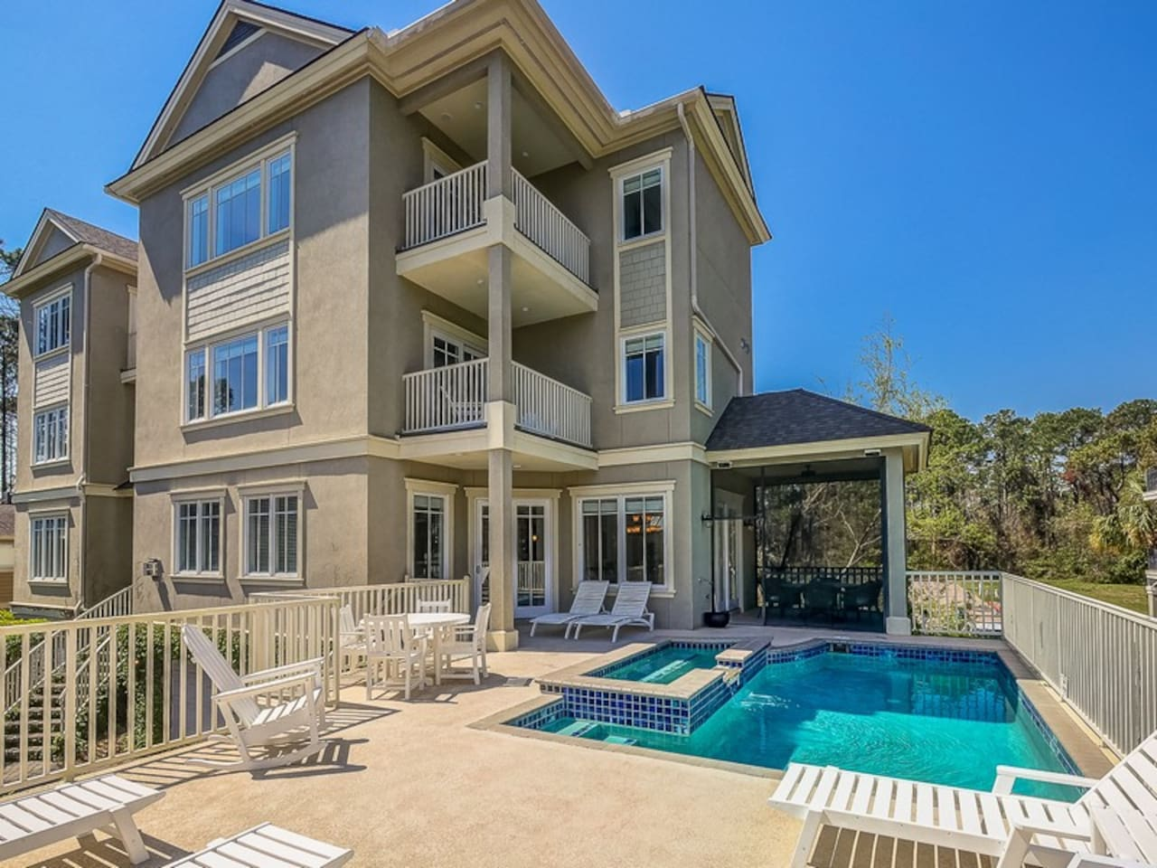 Spacious and Sunny Pool Deck at 5 Urchin Manor