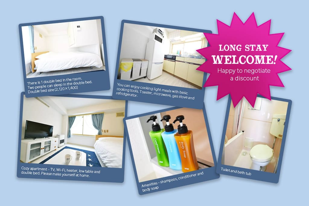 long stay welcome! happy to negotiate a discount