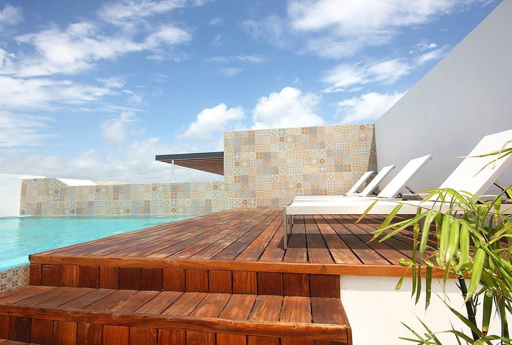 Relax in this Rooftop Pool!