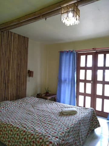 Queen Size Bed. We can also add a single bed for your 3rd guest.