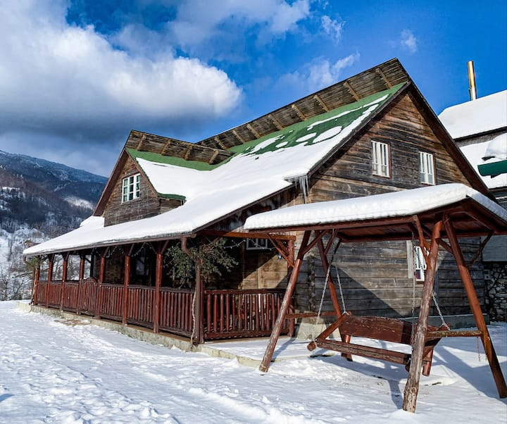 Carpathian Beauties  Log Cabin