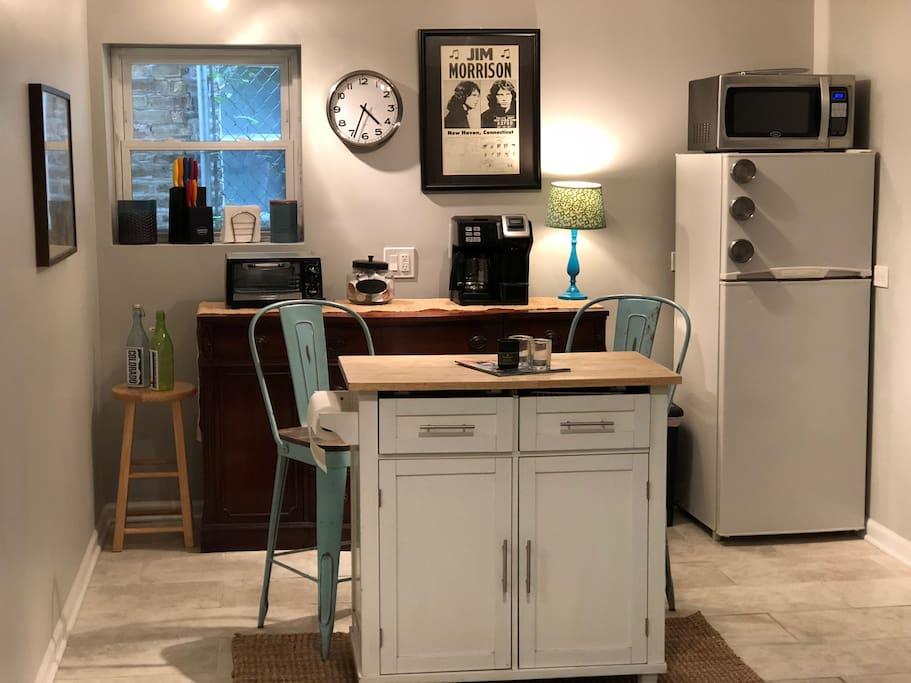"""Kitchen"" minus stove and sink"