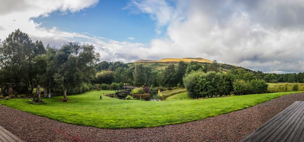 Panoramic view from the decking