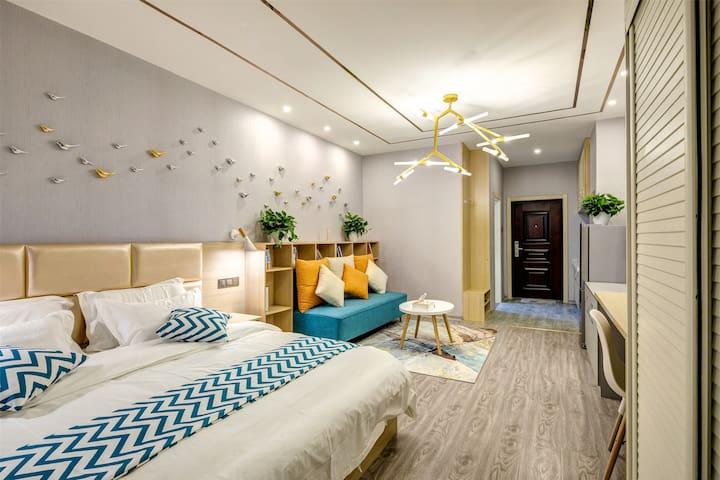 【艺宿公寓】北美N1商场北欧大床房