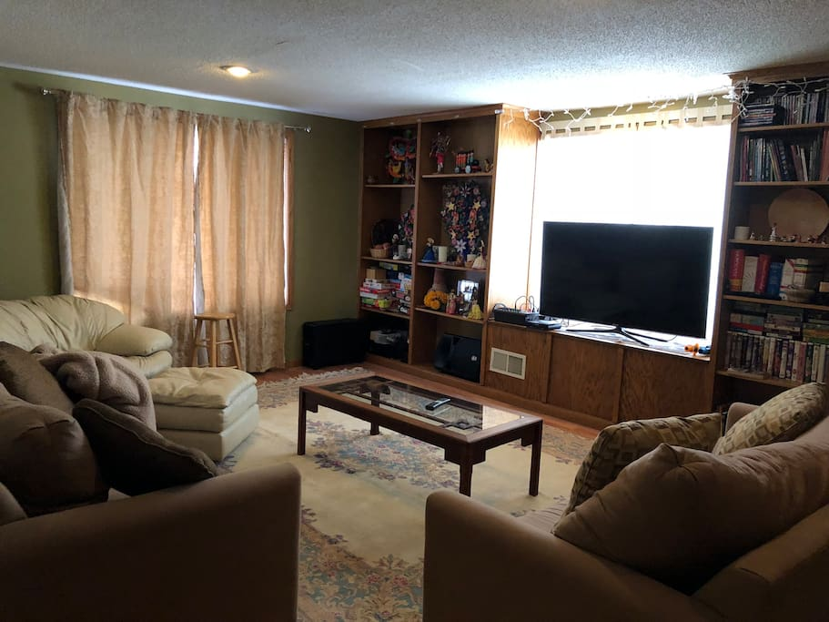 Private living room and TV