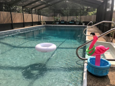 Midtown Home w/Private, Screened, Saltwater Pool