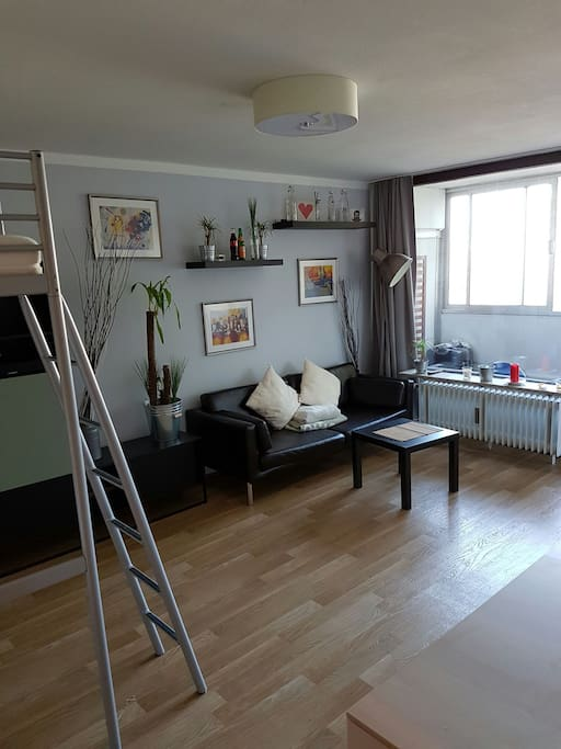 Bright spacious flat with loggia train station for Augsburg apartments for rent