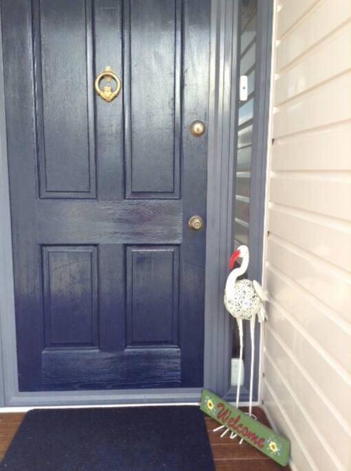 Welcome Host at front door