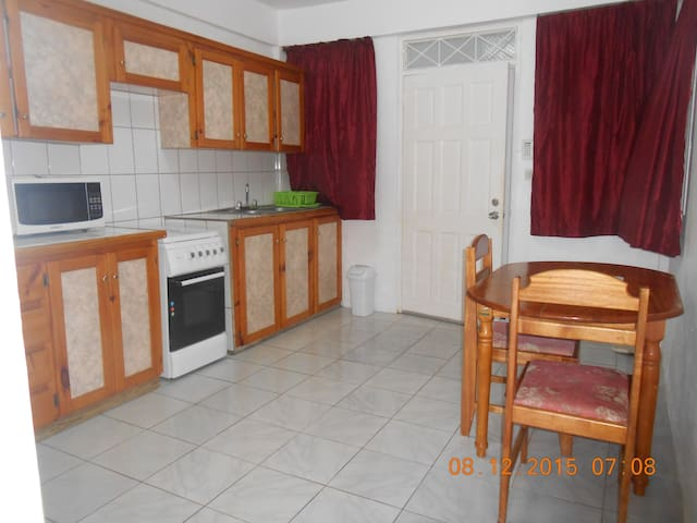 The kitchens are euipped with fridge, cooker, microwave, dishware and cooking utensils
