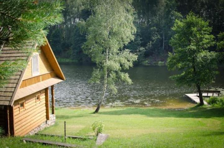 Stasiuku fazenda, peaceful place in woods by lake