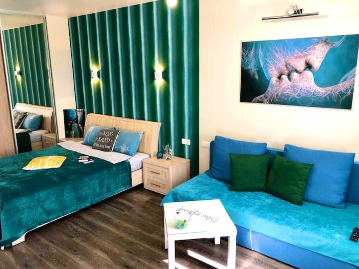 Green style apartment Turkish city