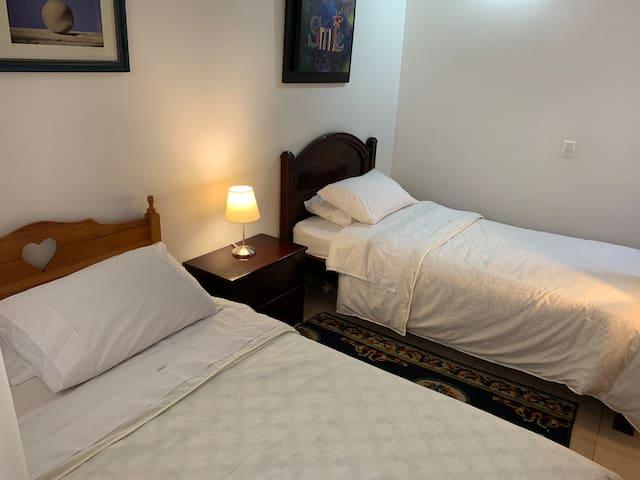 Habitacion 1 con dos camas sencillas o twin
