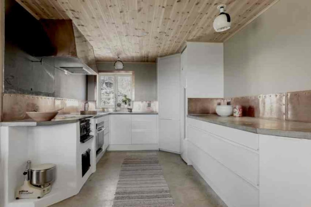 The kitchen is modern but rustic and in constant change with time.