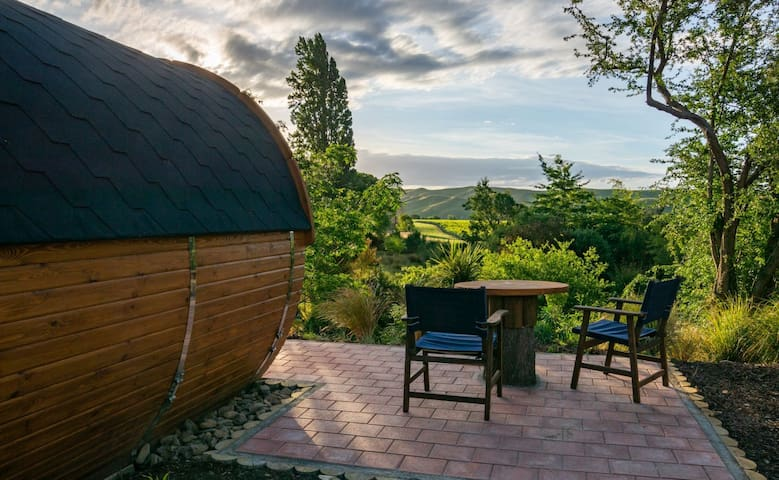 A Wine Barrel with a View