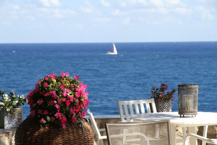 Villa Majus - fronte mare con piscina