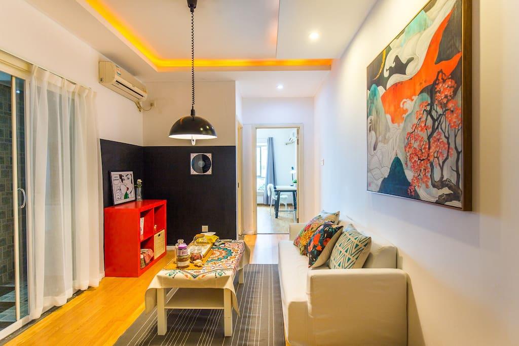 一室一厅的户型。